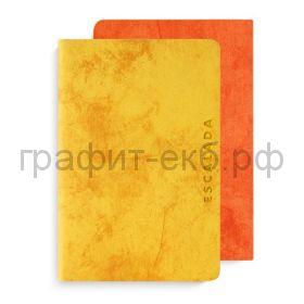 Книжка зап.А6 Феникс+ ДЖИНС ДЕЛАВЭ желтый+оранжевый 96л. блок 2х-цветный точка 50183