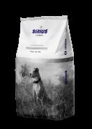 Sirius Platinum Сухой полнорационный корм для взрослых собак Утка с овощами, 12 кг