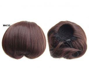 """Искусственные термостойкие волосы - Шиньон """"Бабетта"""" #M4/33, вес 80 гр"""