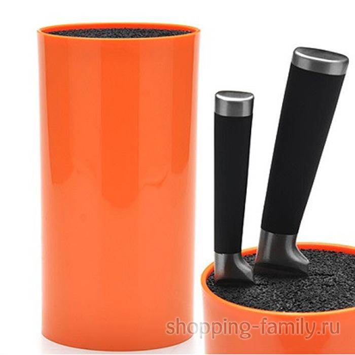 Круглая подставка для ножей Universal Knife Holder, цвет оранжевый