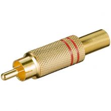 Разъем штекер RCA металл пайка черный/красный GOLD PROCONNECT