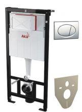 Система инсталляции для унитазов AlcaPlast Sadromodul AM101/1120 + M71 + M91 4 в 1 кнопка смыва хром
