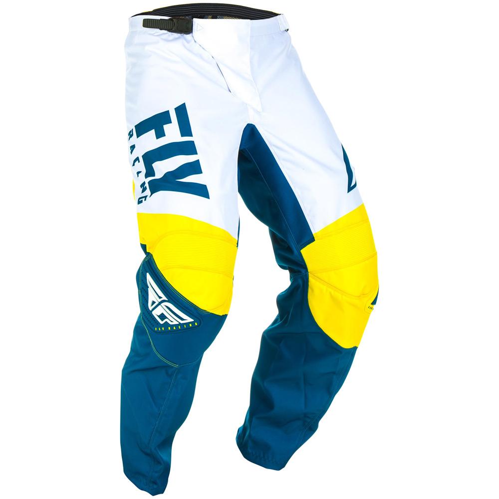 Fly Racing - 2019 F-16 Yellow/White/Navy штаны, желто-бело-синие