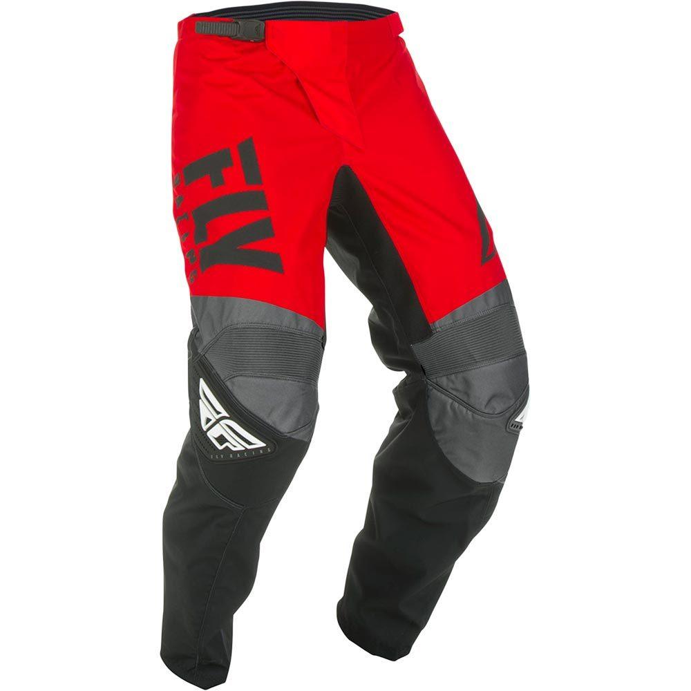 Fly Racing - 2019 F-16 Red/Black/Grey штаны, красно-черно-серые