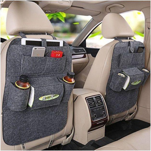 Органайзер для спинки сиденья авто Vehicle mounted storage bag, Цвет Темно-Серый