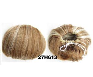 """Искусственные термостойкие волосы - Шиньон """"Бабетта"""" #27H613, вес 80 гр"""
