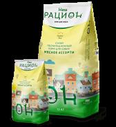 """Наш Рацион Сухой корм для взрослых собак """"Мясное ассорти"""", 3 кг"""