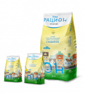 Наш Рацион Сухой корм для взрослых кошек с индейкой, 1.5 кг