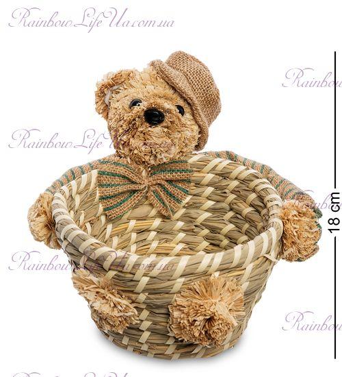 """Корзинка плетеная """"Медвежонок в кепке"""""""