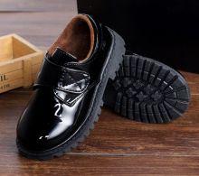 Ботинки детские для школы для мальчика на липучке глянцевые