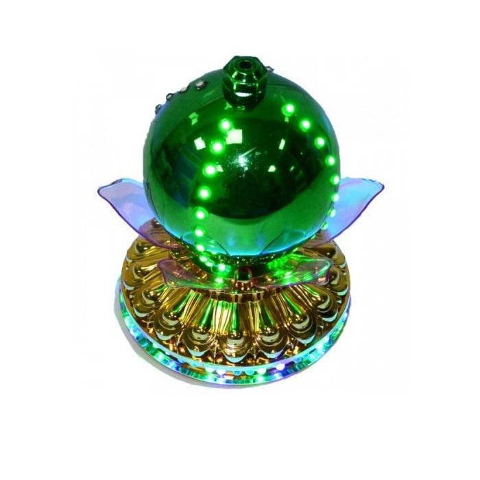LED -Светильник Лотос С Шаром Цветной, 14 См, Цвет Зеленый