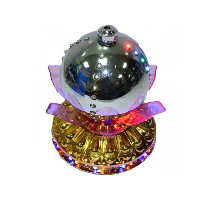 LED -Светильник Лотос С Шаром Цветной, 14 См, Цвет Серебряный