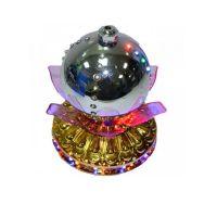 LED-светильник Лотос с шаром, 14 см, цвет серебряный