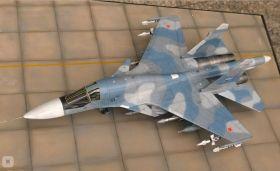 Сборная модель российского истребителя-бомбардировщика Су-34 1:144