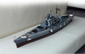 Сборная модель линкор Бисмарк корабль модель Германия Второй мировой войны 1:700