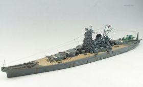 Сборная модель корабля Второй мировой войны японский флагман ВМС Ямато линкор 1:700