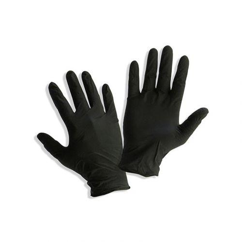 BlackFox Перчатки нитриловые EXTRA повышенной плотности, черные, размер M (100шт/пачка)