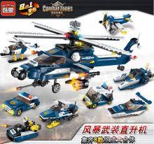 Конструктор Полиция 8 в 1  Lego реплика 380 деталей