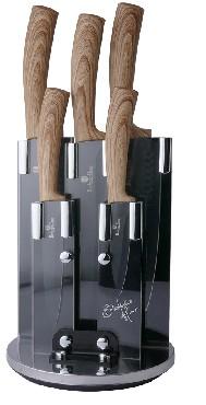 BH- 2531 Ebony Maple Line Набор ножей на подставке 6 пр.