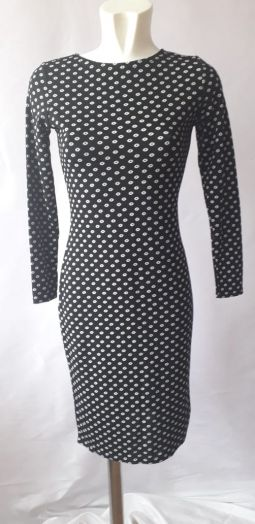 Платье женское прямое с длинными рукавами