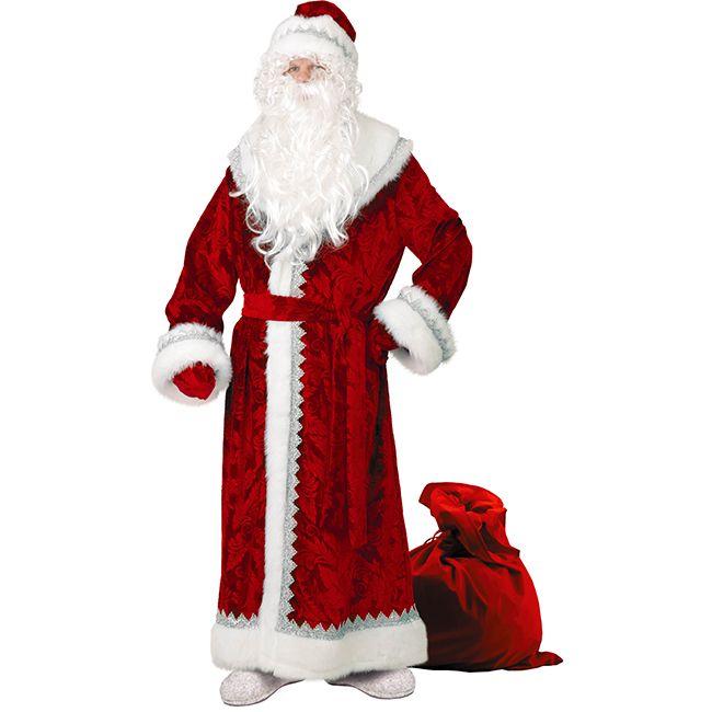 Костюм карнавальный Дед Мороз (велюр)
