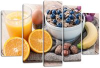 Модульная картина Здоровый завтрак
