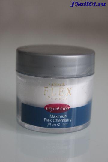 Акриловая белая пудра IBD Crystal White Flex