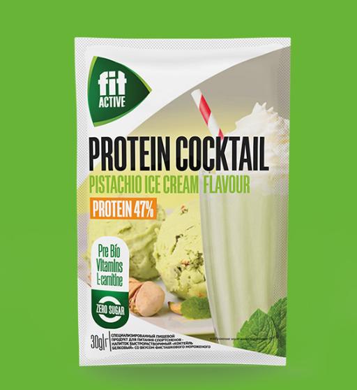 ФИТПАРАД Протеиновый коктейль со вкусом фисташкового мороженого 30 г