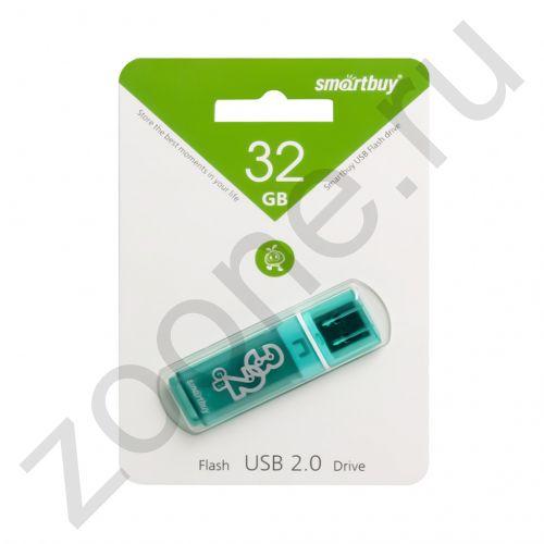 32GB USB GLOSSY зеленый SMARTBUY
