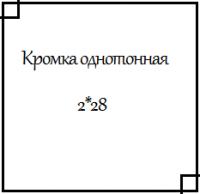 Кромка ПВХ однотонная 2*28