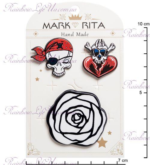 """Набор брошей с цанговым зажимом бабочка Пират """"Mark Rita"""""""