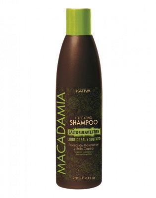 Увлажняющий шампунь для нормальных и поврежденных волос MACADAMIA Kativa, 250 мл.