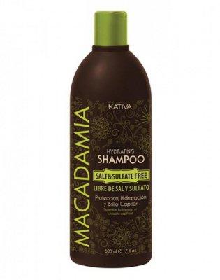 Увлажняющий шампунь для нормальных и поврежденных волос MACADAMIA Kativa, 500 мл