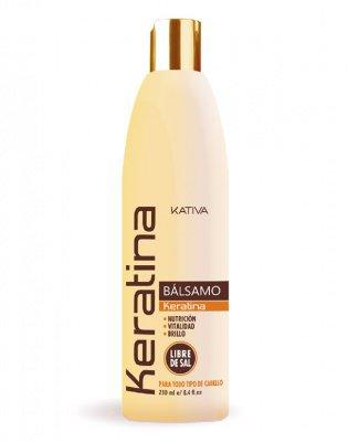 Бальзам-кондиционер для всех типов волос кератиновый укрепляющий KERATINA Kativa, 250 мл.
