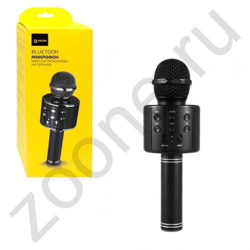 Колонка-микрофон BLUETOOTH DRM-WS858-01 (AUX, microSD, USB) черный DREAM (на русском)