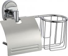 Держатель туалетной бумаги и  освежителя воздуха Savol S-L07051.Хром