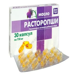 Масло расторопши в капсулах, 30 капс