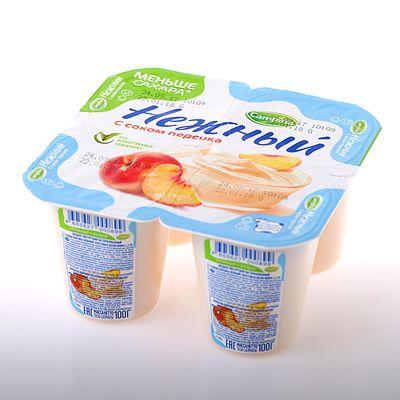 Продукт йогуртный Кампина Нежный 1,2% персик 100г ООО Кампина