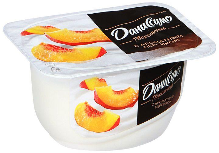 Продукт творожный Даниссимо персик 130г