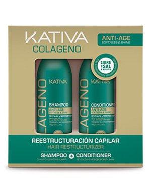 COLLAGENO Набор коллагеновый шампунь + кондиционер 2х100мл Kativa