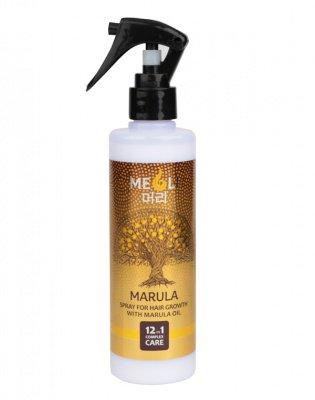 Спрей для роста волос с маслом Марулы комплексный уход 12 в 1, MEOLI, 250 мл