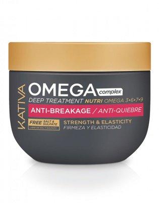 Антистрессовая маска для поврежденных волос, Omega Complex, Kativa