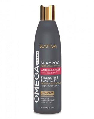 Антистрессовый шампунь для поврежденных волос Omega Complex, Kativa