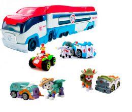 Патрулевоз (Автовоз) с Райдером на квадроцикле + 3 щенка (Эверест, Трекер, Робопес) Щенячий патруль