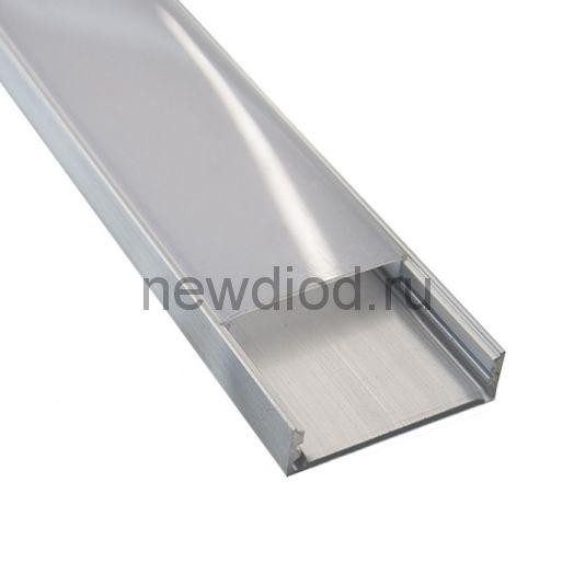 Профиль накладной алюминиевый ST-N 3007 (с рассеивателем) 2000х28х07мм MS