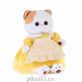 Платье желтое с передником