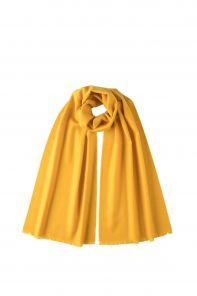 """стильный однотонный шарф 100% шерсть мериноса, расцветка """"Желтый"""" YELLOW BRUSHED MERINO, средняя плотность 4"""