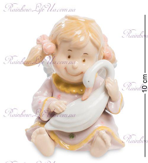 """Фигурка девочка ангел с лебедем """"Pavone"""""""