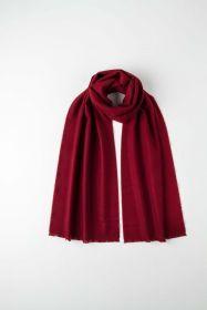 """стильный однотонный шарф 100% шерсть мериноса, расцветка """"винный цвет Мерло""""  MERLOT BRUSHED MERINO, средняя плотность 4"""