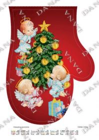DANA-3182р Dana. Новогодние Ангелы. Руковица для вышивки бисером (набор 725 рублей)